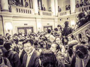 Audiences wating for entrance  in Shanghai Concert Hall(built in 1930, originally known as 南京大戏院,photo by S un Xiaoxue).jpeg